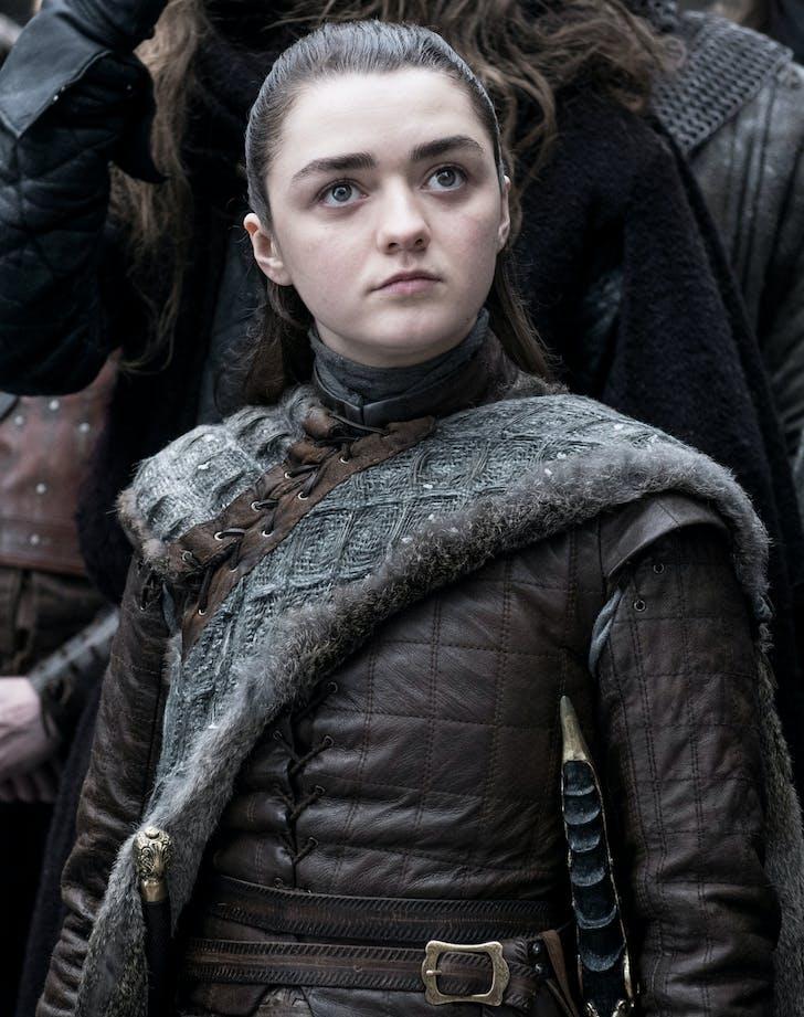 Arya Stark in armor Game of Thrones season 8 premiere