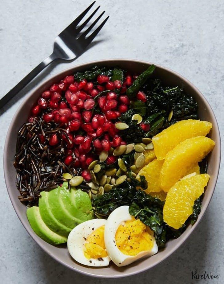Buddha Bowl With Kale Avocado Wild Rice Cold dinner Recipes