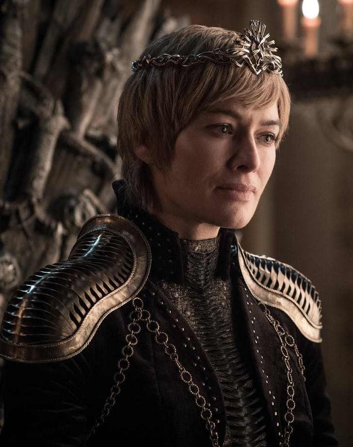 Cersei Lannister looking worried