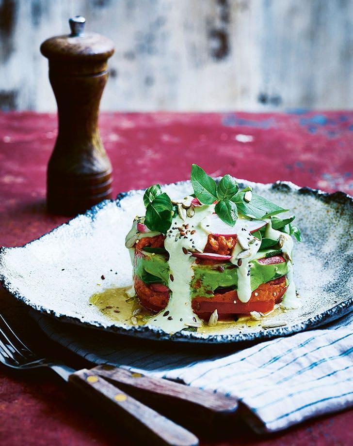 Cheesy Raw Vegan Zucchini Lasagna cold dinner recipes