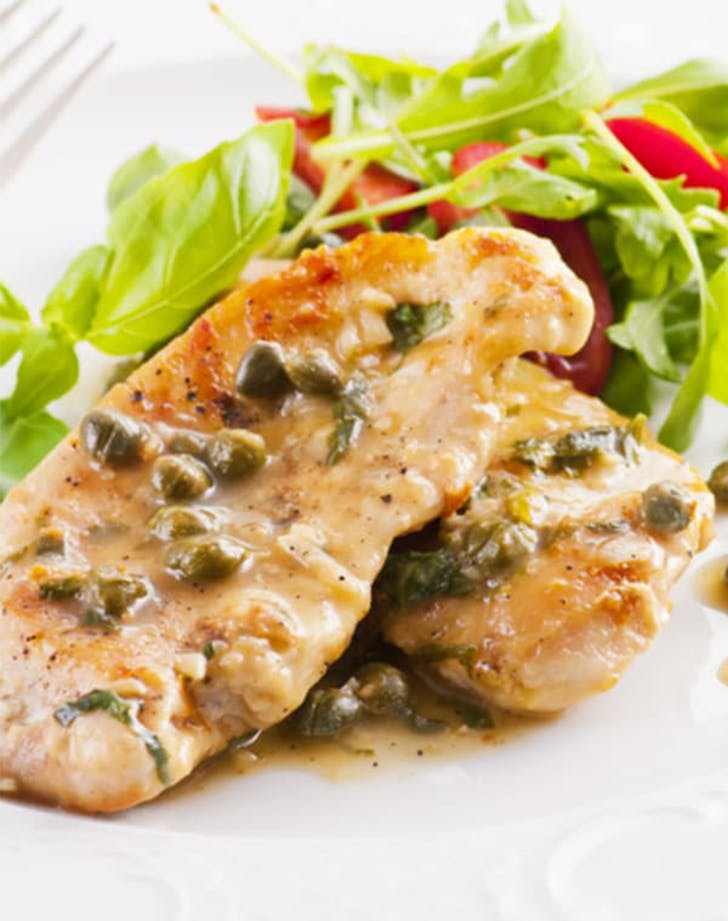 Chicken Piccata with Lemon Butter Sauce and Garlic Saute  769 ed Broccoli