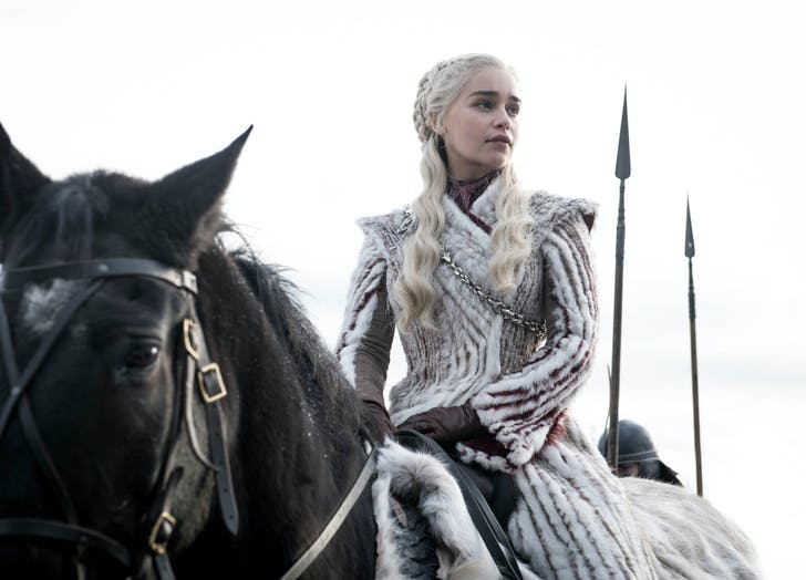 Daenerys Targaryen Game of Thrones on horseback