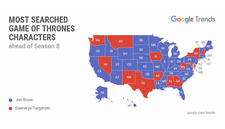 Google game of thronres states