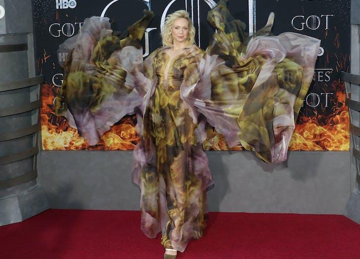 Gwendoline Christie Iris Van Herpen Gown Game of Thrones premiere.l