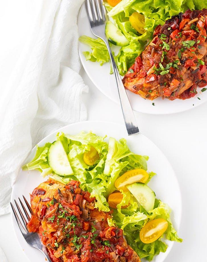Healthy Slow Cooker Chicken Cacciatore Recipe