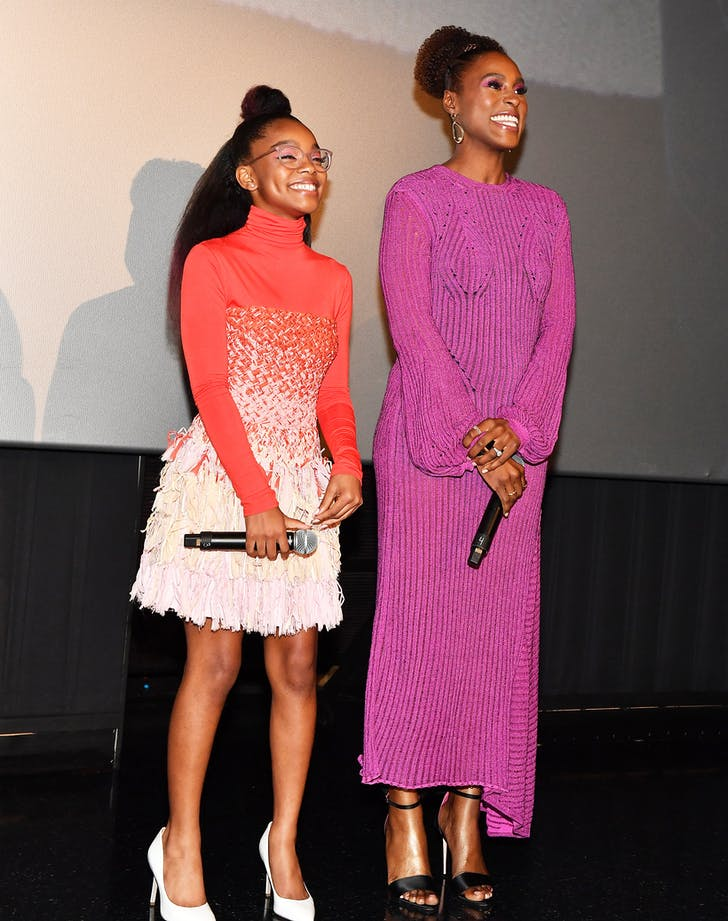 Issa Rae and Marsai Martin on stage