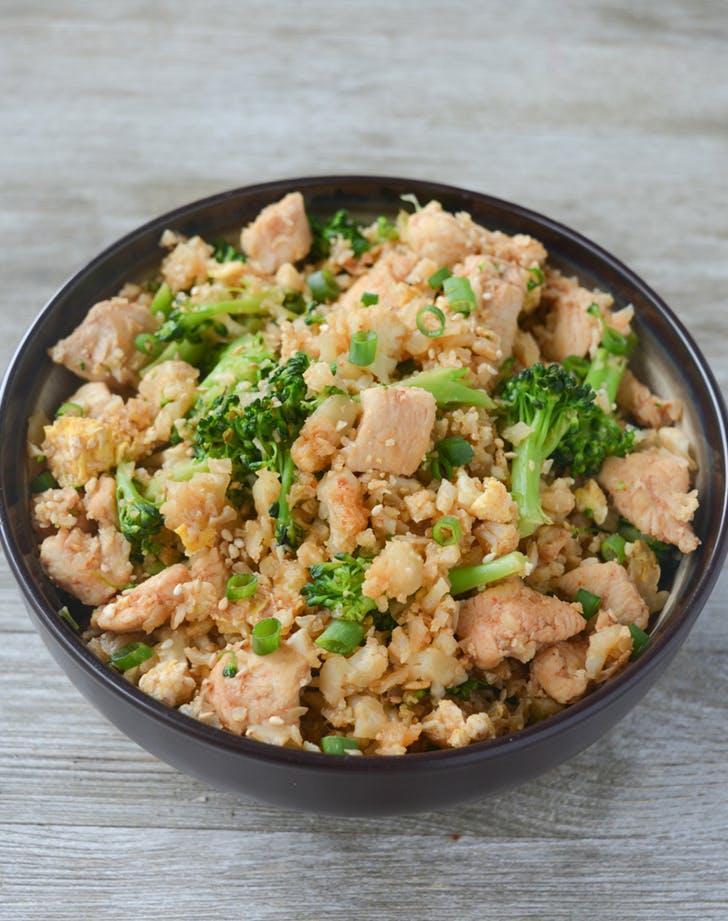 Keto Chicken Fried Cauliflower Rice