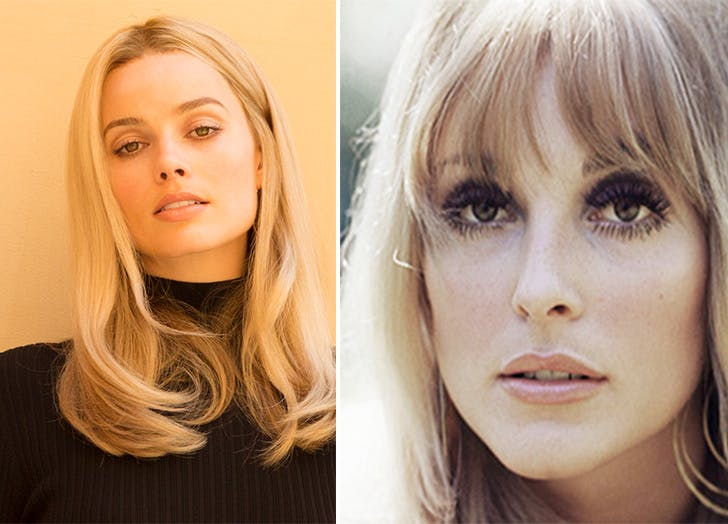 Margot Robbie and Sharon Tate side by side