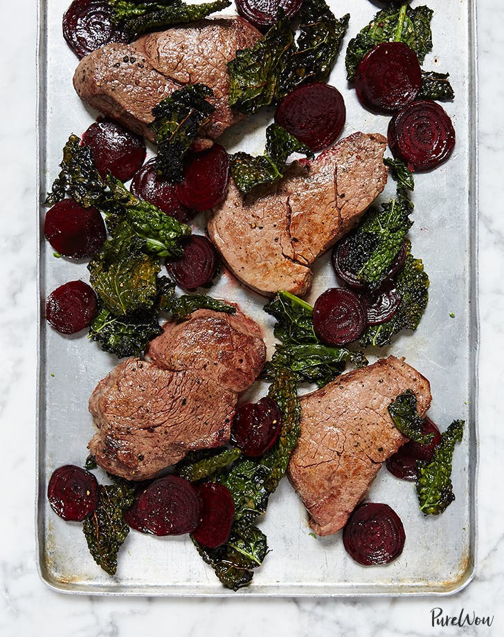 One Pan Steak With Beets And Crispy Kale Recipe1