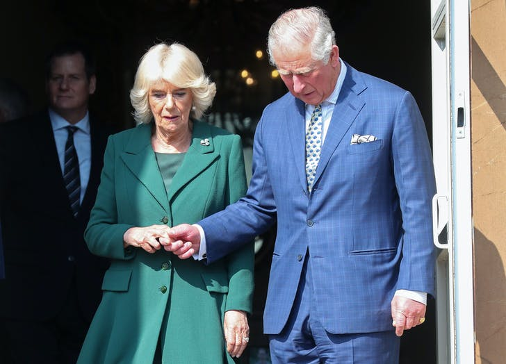 Prince Charles and Camilla holding hands on anniversary