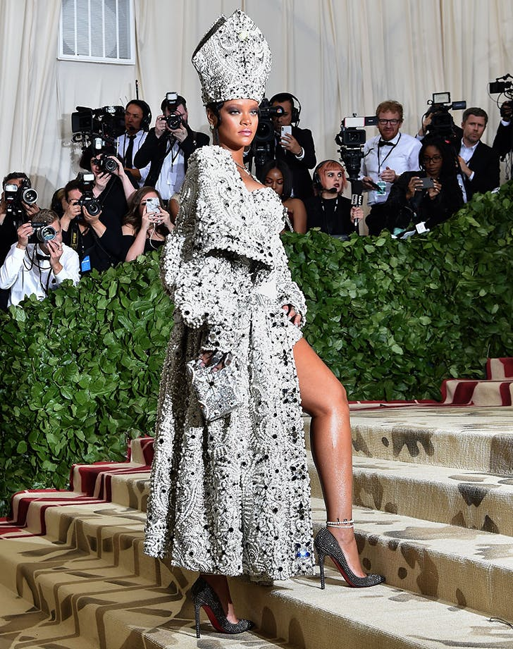 Rihanna on the 2018 Met Gala red carpet