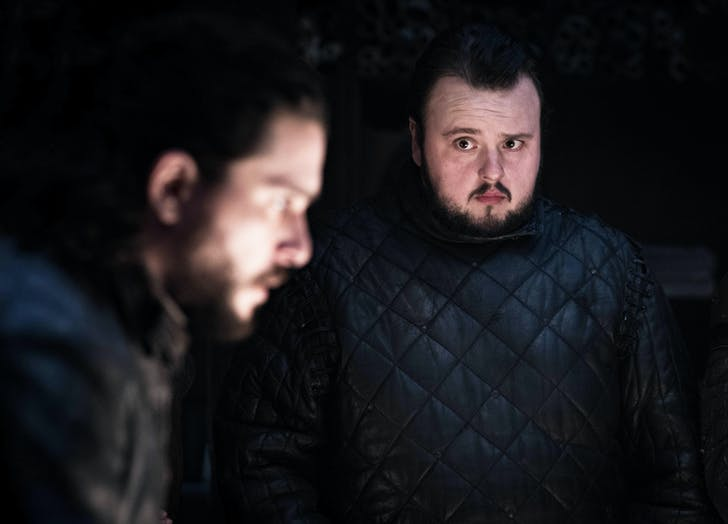 Samwell Tarly looking surprised game of thrones1