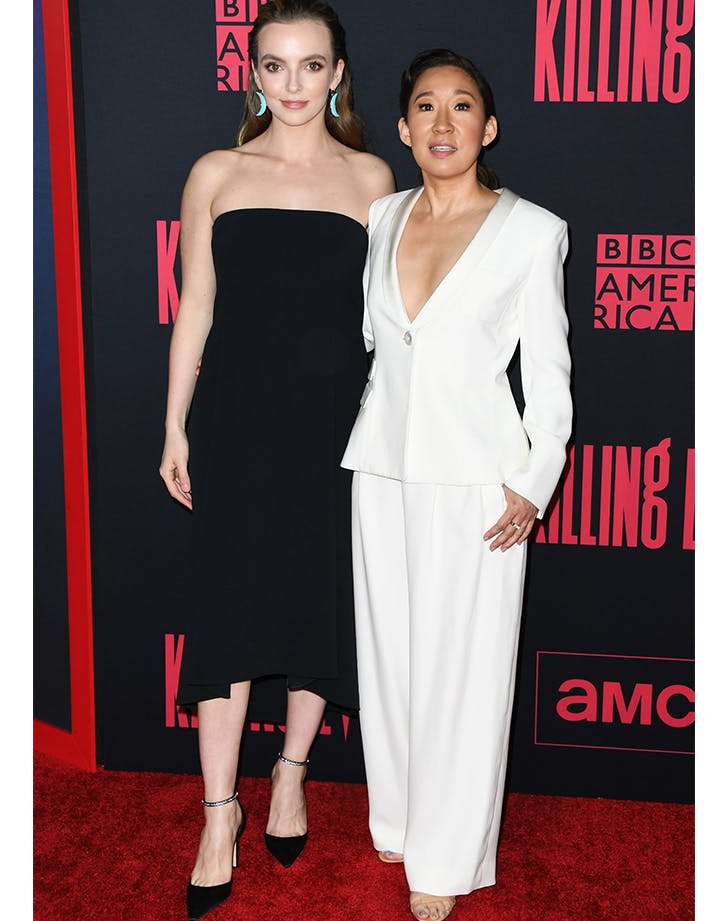 Sandra Oh and Jodi Comer at Killing Eve season 2 premiere