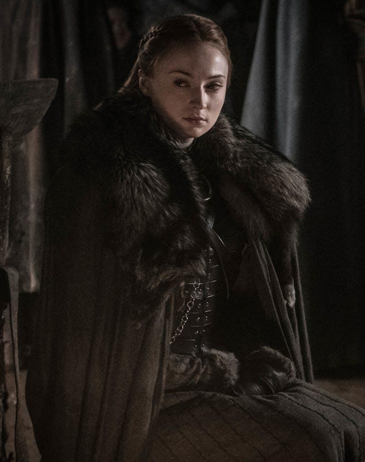 Sansa Stark crying battle of winterfell game of thrones