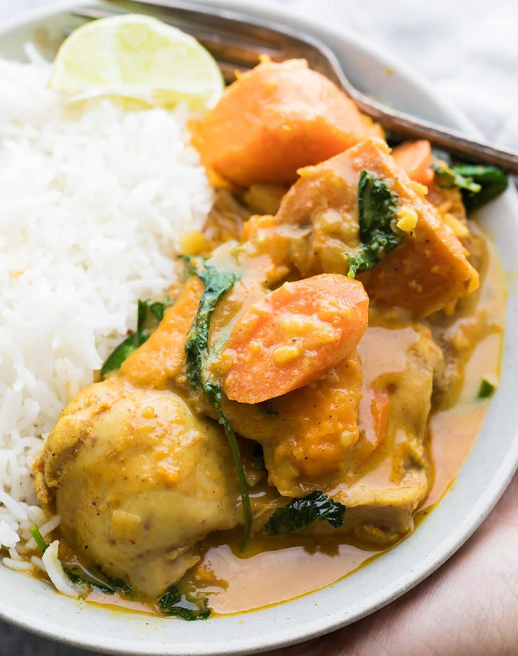 Slow Cooker Chicken and Sweet Potato Curry