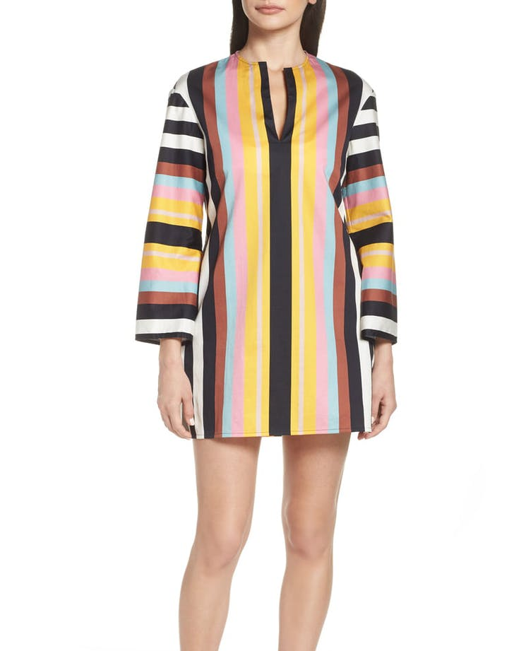 Stripe Cover up tunic tory burch1
