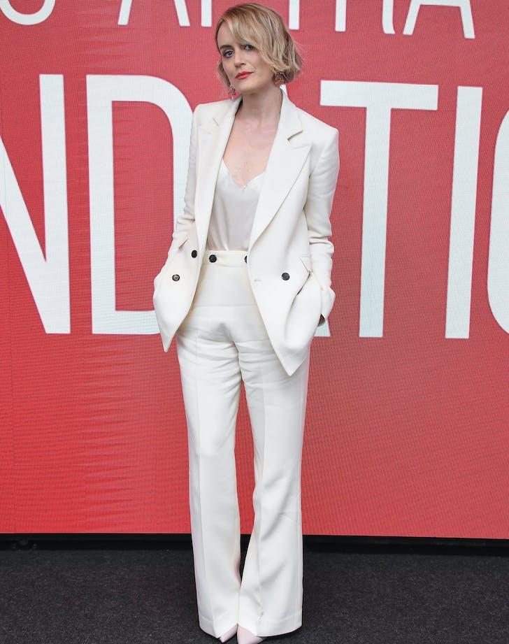 Taylor Schilling white suit