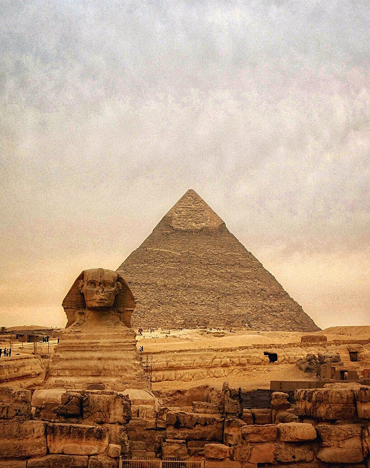 The Sphinx And Pyramid Of Chephren in Egypt