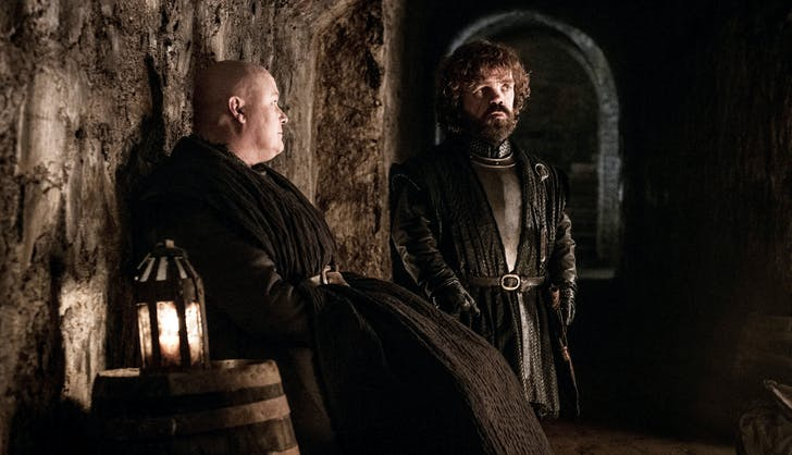 Varys and Tyrion Lannister in the Crypt game of thrones1