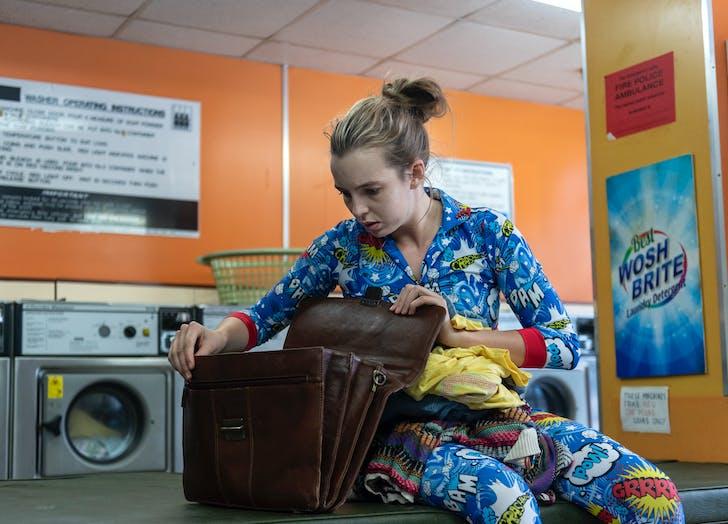 Villanelle at laundry mat