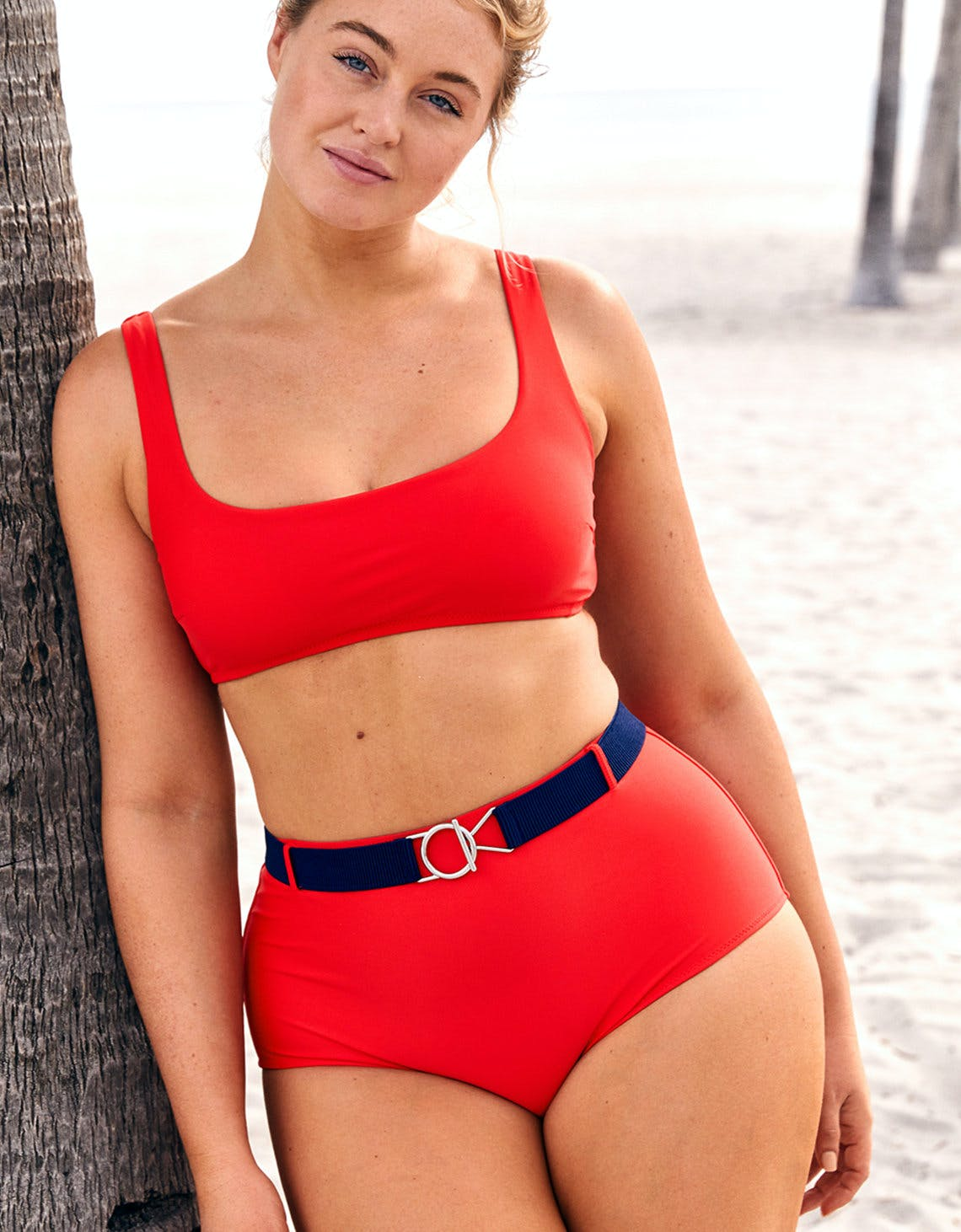 aerie bikini with belt