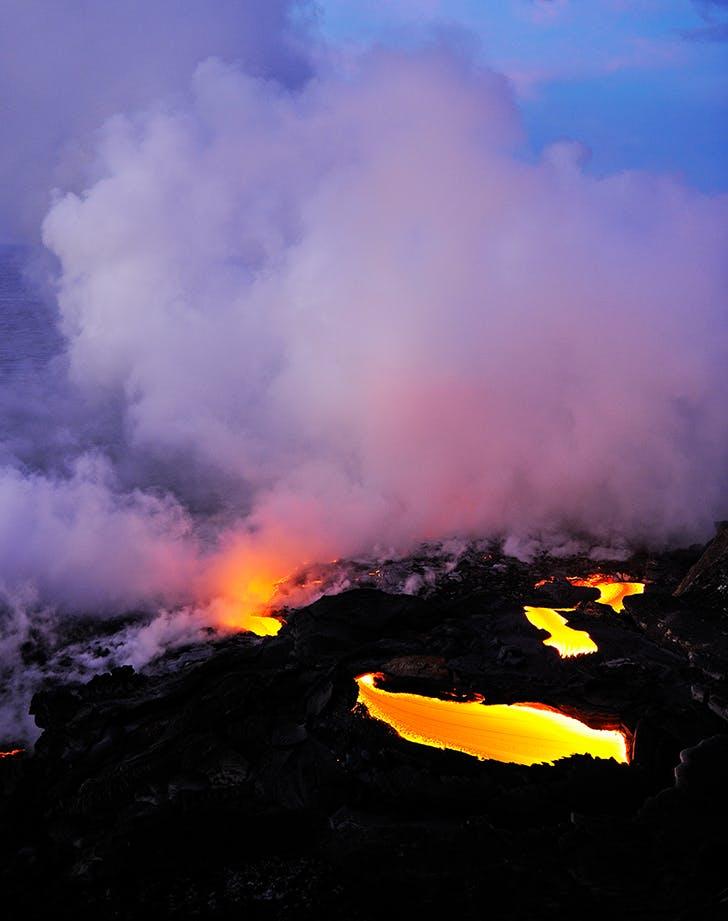 an active volcano in hawaii