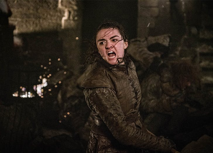 arya fighting battle of winterfell