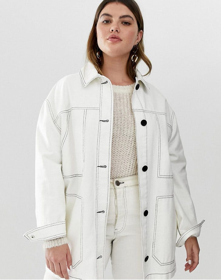 asos curve white jacket