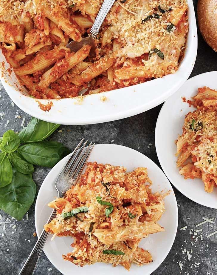 chicken parm baked pasta