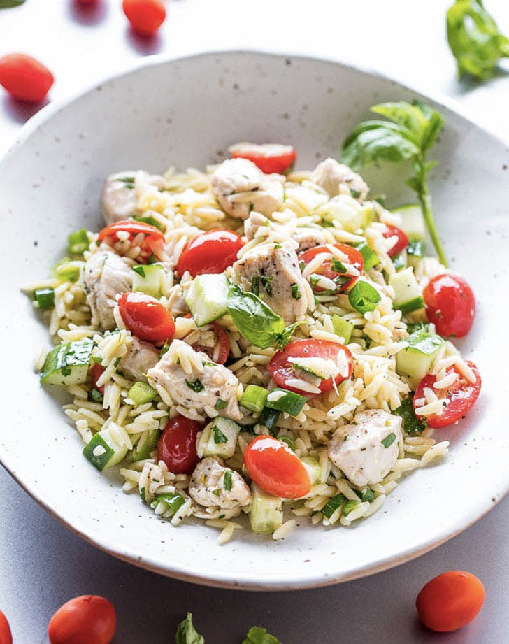 chicken orzo salad cold dinner recipes