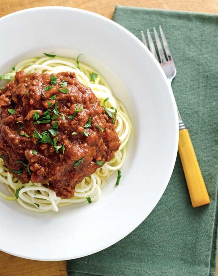 crock pot turkey bolognese zucchini noodles paleo pasta recipes