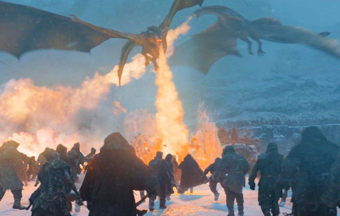 dragon fire white walkers got