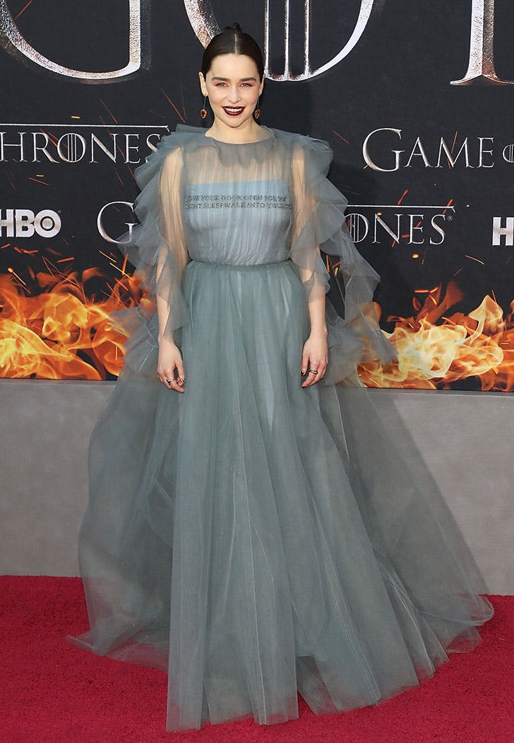 emilia clarke dress got premiere