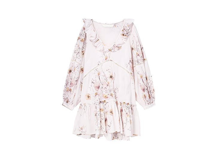 floral frilly dress
