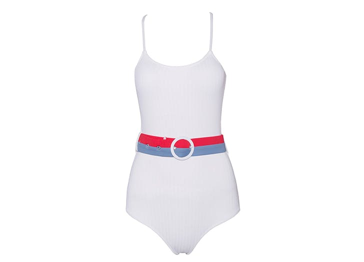 floralkini one piece swimsuit with belt