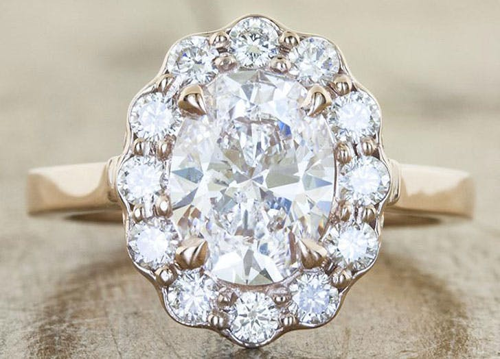flower diamond wedding ring 3