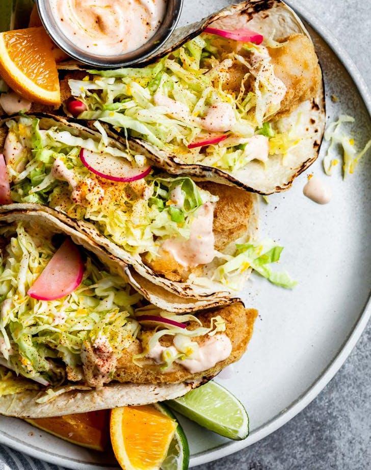 gluten free baja fish tacos chipotle cream sauce recipe