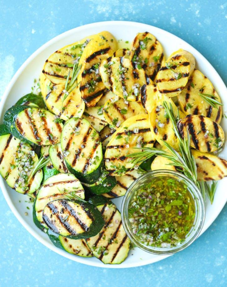 grilled garlic herb zucchini recipe