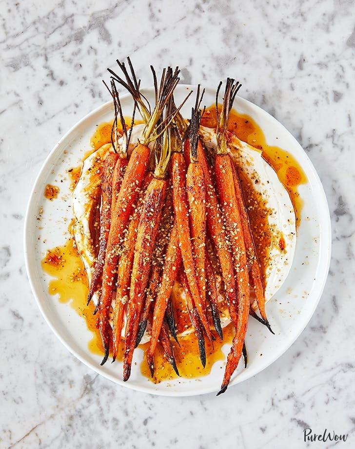 harissa and honey roasted carrots recipe1