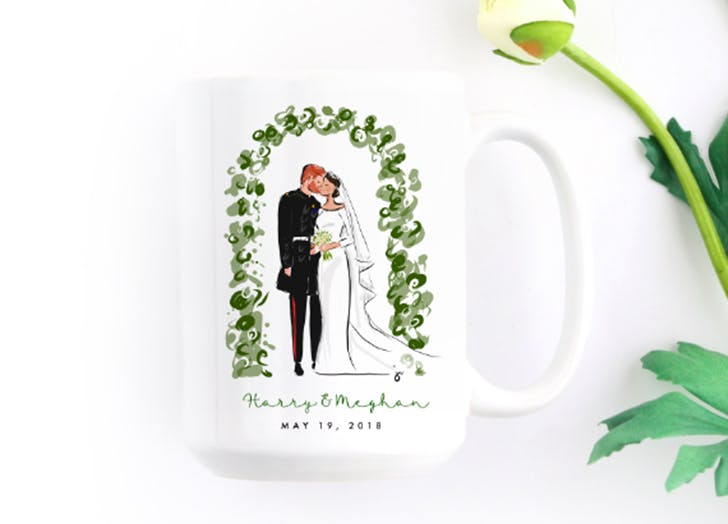 harry and meghan royal wedding mug