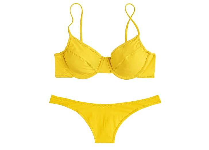 jcrew yellow bikini1