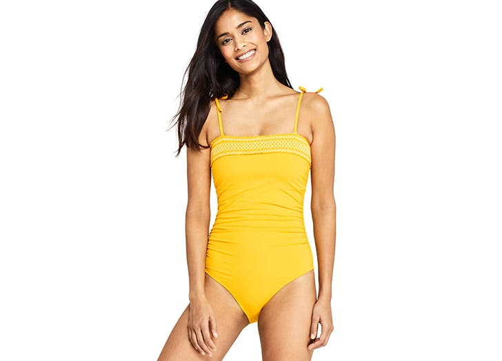 lands end yellow swimsuit