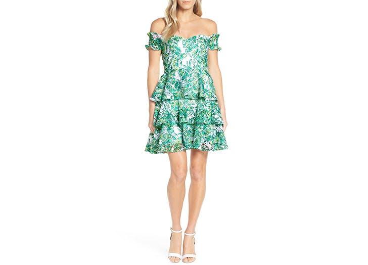 lp green lace dress