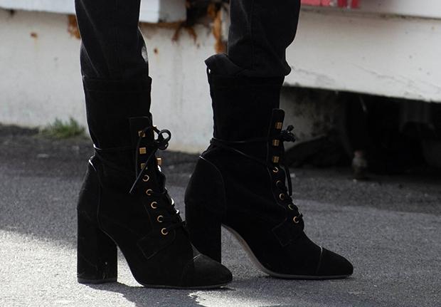 stuart weitzman suede lace up boots