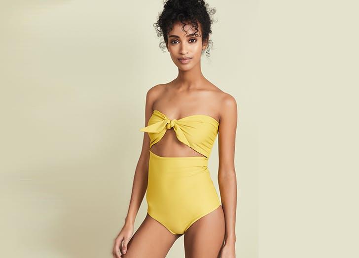mikoh yellow swimsuit