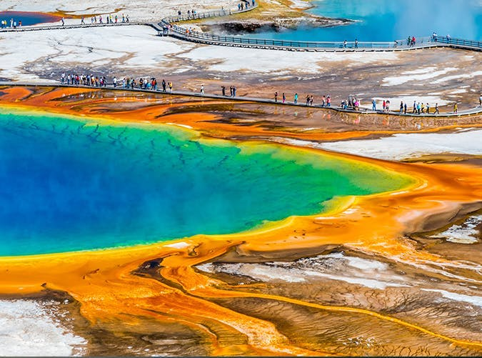 most beautiful places in the world grand prismatic spring wyoming