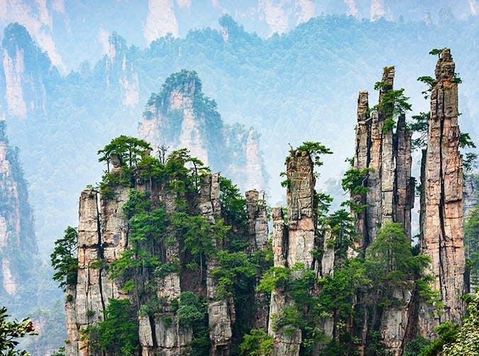 most beautiful places in the world national forest china