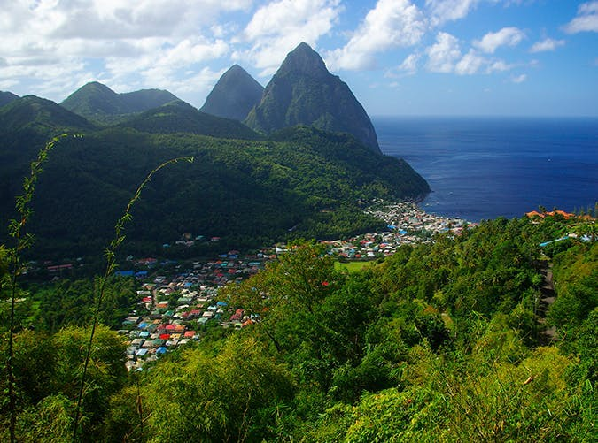 most beautiful places in the world the pitons stlucia
