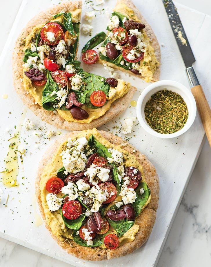 Mediterranean Pita Pizza Recipe Purewow