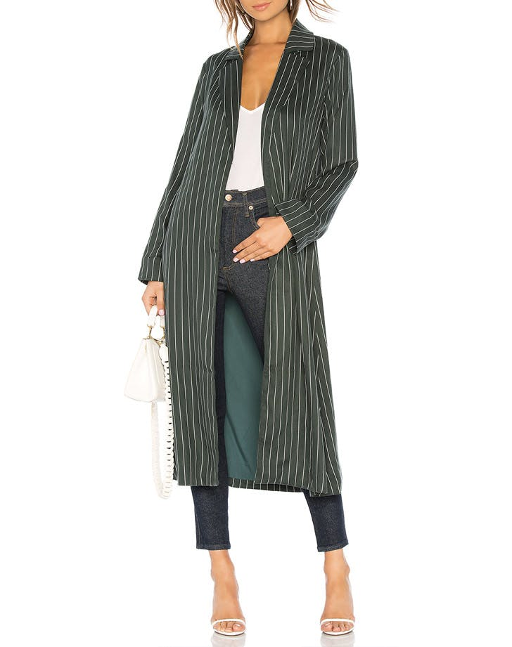 privacy please pinstripe trench
